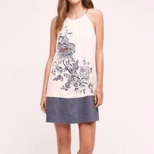 Anthropologie Sava Silk Halter Dress by Floreat